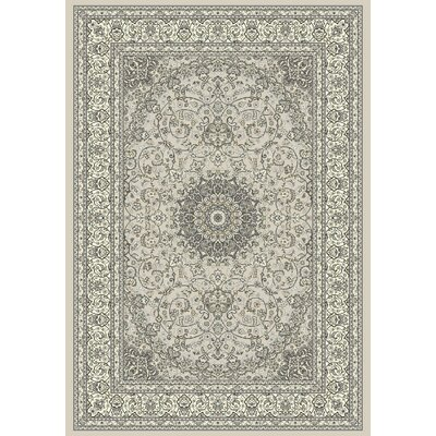 Attell Soft Gray/Cream Area Rug Rug Size: 67 x 96