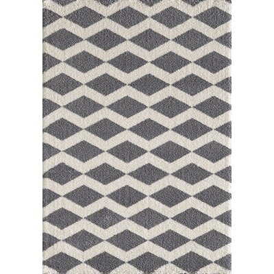 Silky Gray/White Area Rug Rug Size: Rectangle 311 x 57
