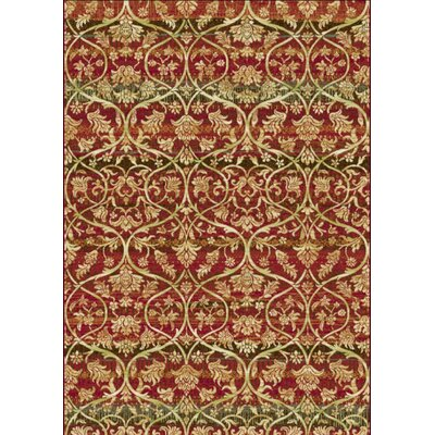 Heritage Red Area Rug Rug Size: Rectangle 36 x 56