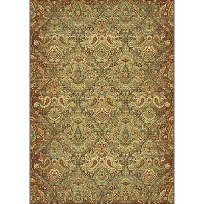 Heritage Green Area Rug Rug Size: Rectangle 36 x 56