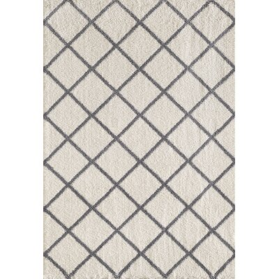 Silky Ivory/Gray Area Rug Rug Size: Rectangle 2 x 33
