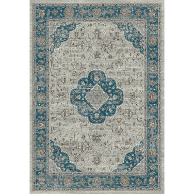 Regal Gray/Blue Area Rug Rug Size: 53 x 77