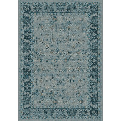 Regal Blue Area Rug Rug Size: 53 x 77