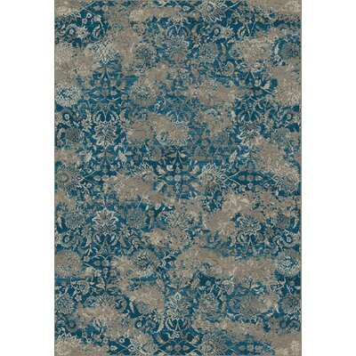 Regal Beige/Blue Area Rug Rug Size: Runner 22 x 77