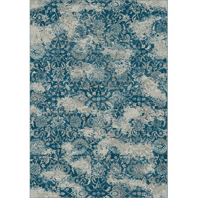 Regal Gray/Blue Area Rug Rug Size: 67 x 96