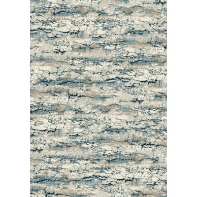 Regal Ivory/Blue Area Rug Rug Size: 36 x 56