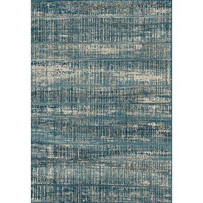 Cason Blue Area Rug Rug Size: Rectangle 36 x 56