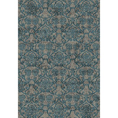Regal Blue/Brown Area Rug Rug Size: 53 x 77