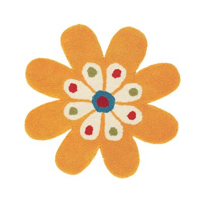 Fantasia Hand-Tufted Wool Yellow Flower Area Rug Rug Size: Novelty 2 x 2