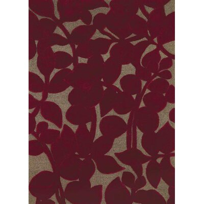 Allure Allurerary Rich Red Area Rug Rug Size: Rectangle 8 x 11