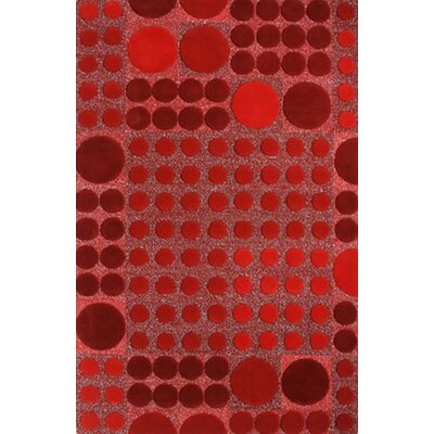 Allure Red Allurerary Rug Rug Size: Rectangle 5 x 8
