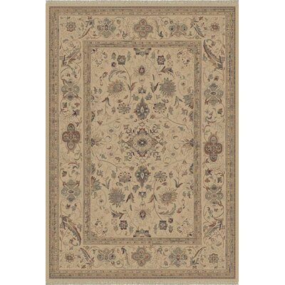 Satin Walker Cream Rug Rug Size: Oval 53 x 77