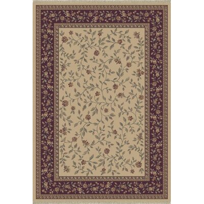 Satin Bolton Cream Rug Rug Size: Rectangle 92 x 1210