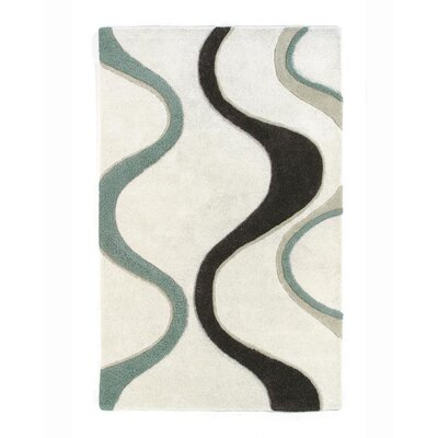 Aria Cool Ridges Area Rug Rug Size: Rectangle 8 x 11