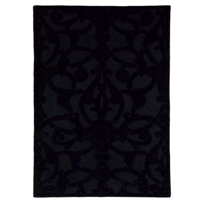 Aria Madison Black Area Rug Rug Size: 8 x 11