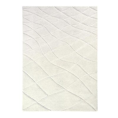 Aria Caryn Hand Tufted Wool Ivory Area Rug Rug Size: Rectangle 8 x 11