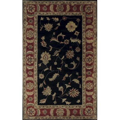 Charisma Black / Red Rosewood Area Rug Rug Size: Rectangle 9'6