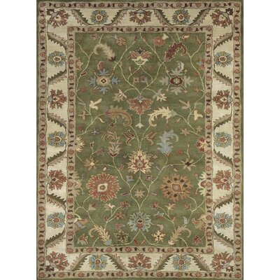 Ashtown Harding Green / Ivory Area Rug Rug Size: 96 x 136