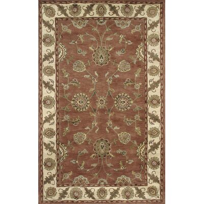 Charisma Adams Rust / Ivory Area Rug Rug Size: Rectangle 96 x 136