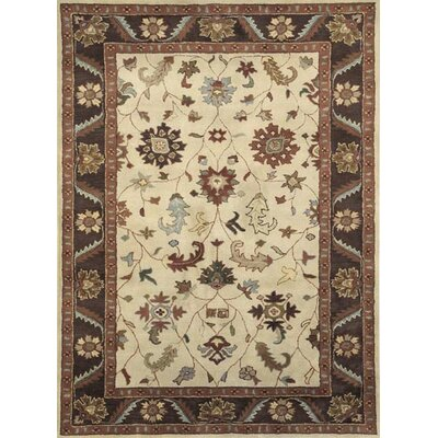 Charisma Harding Ivory / Brown Area Rug Rug Size: Rectangle 67 x 96