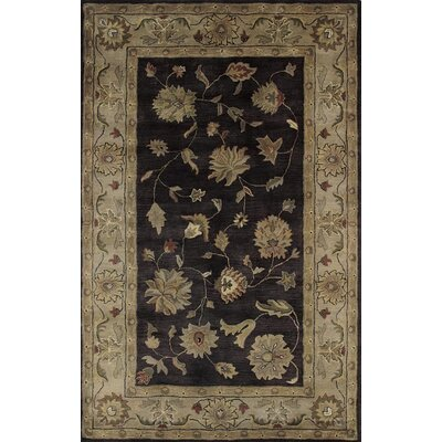 Charisma Eggplant / Ivory Roberts Area Rug Rug Size: Rectangle 4 x 6