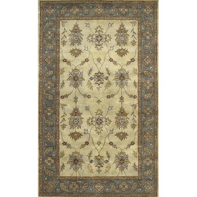 Charisma Parson Ivory / Blue Area Rug Rug Size: Rectangle 96 x 136