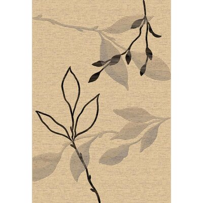 Eclipse Cream Branches Area Rug Rug Size: 53 x 77