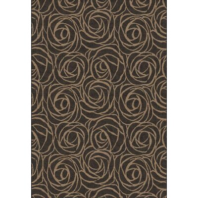 Eclipse Brown Rosebuds Area Rug Rug Size: Rectangle 53 x 77