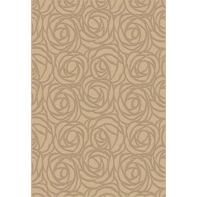 Eclipse Creme Rosebuds Area Rug Rug Size: Rectangle 53 x 77