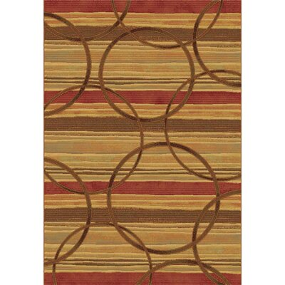 Eclipse Firetown Spice Area Rug Rug Size: Rectangle 53 x 77