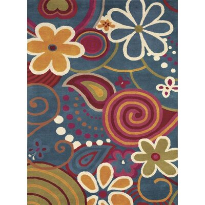 Fantasia Fan Girls Tufted Wool TurquoiseArea Rug Rug Size: Rectangle 5 x 8