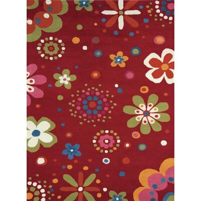 Fantasia Fan Girls Birght Red Area Rug Rug Size: Rectangle 76 x 910