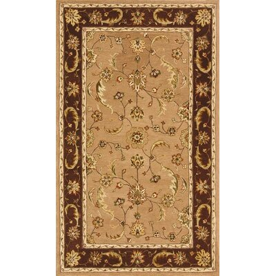 Jewel Sand/Chocolate Rug Rug Size: Rectangle 8 x 11
