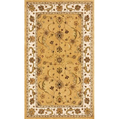 Jewel Gold/Beige Rug Rug Size: Rectangle 8' x 11'
