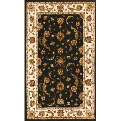 Jewel Charcoal/Beige Rug Rug Size: Rectangle 4 x 6