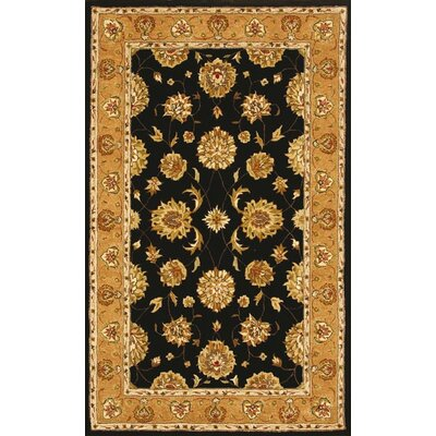 Jewel Black/Camel Rug Rug Size: Rectangle 67 x 96