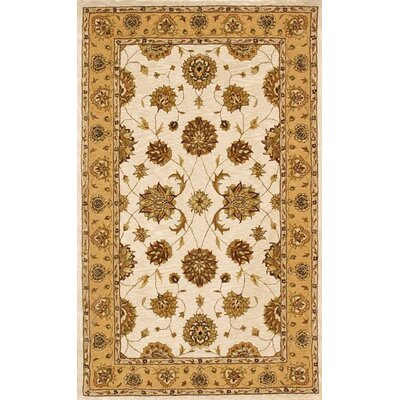 Jewel Ivory/Gold Rug Rug Size: Rectangle 4 x 6