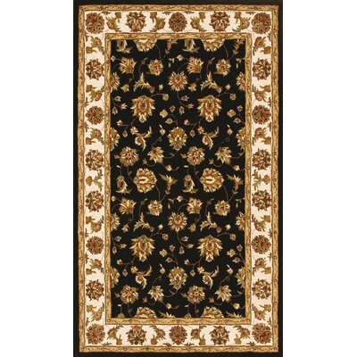 Jewel Black/Beige Rug Rug Size: Rectangle 5 x 8