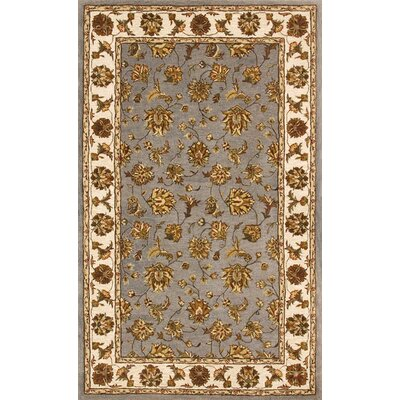 Jewel Blue/Beige Rug Rug Size: Rectangle 4 x 6