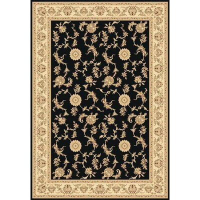 Legacy Arronwood Black Rug Rug Size: Rectangle 53 x 77