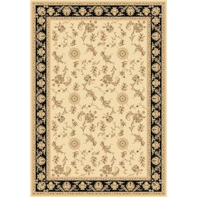 Legacy Arronwood Ivory/Black Rug Rug Size: Rectangle 53 x 77