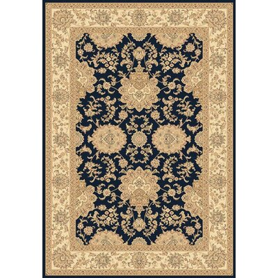 Legacy Hiram Navy Rug Rug Size: Rectangle 53 x 77