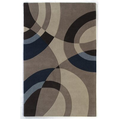 Nolita Beige/Blue Large Arcs Area Rug Rug Size: Rectangle 5 x 8