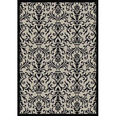 Blackburn Rockwell Beige/Black Indoor/Outdoor Area Rug Rug Size: Rectangle 53 x 77