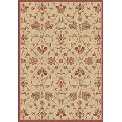 Piazza Light Orange/Red Indoor/Outdoor Area Rug Rug Size: 2 x 37