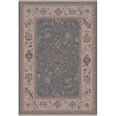 Satin Walker Blue Rug Rug Size: 53 x 77
