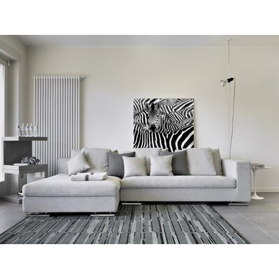 Flair Gray Area Rug Rug Size: 53 x 77