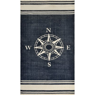 Granville Hand-Woven Navy/Off White Area Rug
