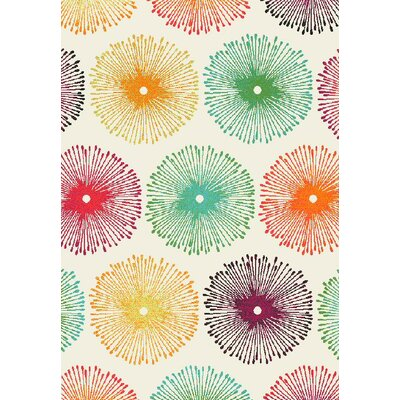 Infinity Multicolor Area Rug Rug Size: 68 x 97