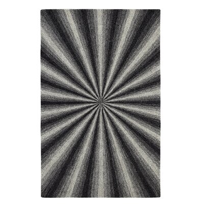 Aria Tufted Wool Ivory/Black Area Rug Rug Size: Rectangle 8 x 11